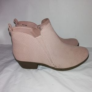 Sugar girls pink ankle boots Booties size 3M